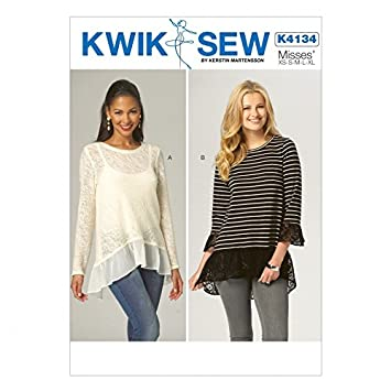 Amazon Kwik Sew Ladies Easy Sewing Pattern 4134 Stretch Knit