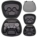 Sisma Game Controller Holder Case for Playstation Official DualShock 4 Wireless Controller, Heavy Duty Protective Cover Hard Housing Pouch Fit - Grey (Color: Grey)