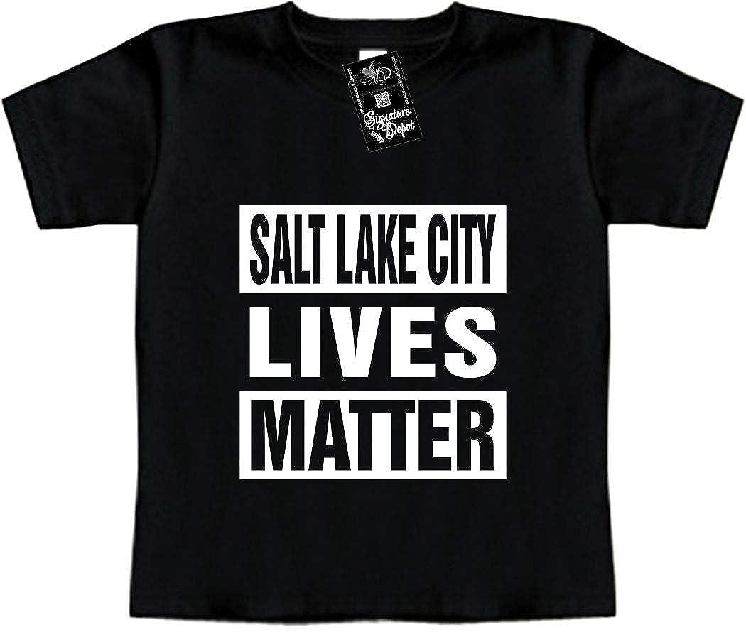 Toddler Tee Utah, UT Funny Baby T-Shirt Salt Lake City Lives Matter