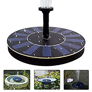 51L1a%2BhLE6L. SS300  - COSSCCI Solar Powered Water Fountain Pump Portable Submersible Free Standing for Bird Bath, Small Pond, Patio Garden Decoration(1.4W)