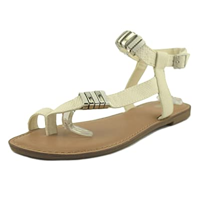 Bar III Womens Vance Open Toe Casual White Size 70