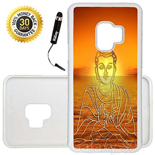 Shiva Case - Custom Galaxy S9 Case (Buddha Shiva Beach) Edge-to-Edge Rubber White Cover Ultra Slim   Lightweight   Includes Stylus Pen by Innosub
