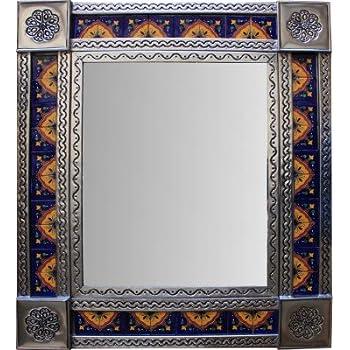 Amazon Talavera Tile Mirror With Walnut Frame Home Kitchen