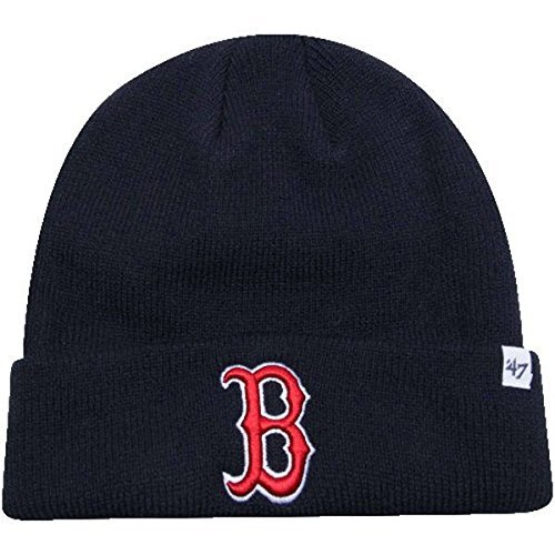 (Boston Red Sox Navy Blue Cuff Beanie Hat - MLB Cuffed Winter Knit Cap )