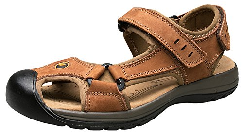 3a0fadccbab9 AGOWOO Sandles Outdoor Closed Toe Beach Hiking Sandals For Women Brown 10  B(M)