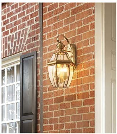 YIAIYAS Lámpara de Pared Exterior Europea de Cobre Balcón Exterior Pasillo Escalera Lámpara de Puerta Sala de Estar Patio Sencillez Creativa (Size : M): Amazon.es: Hogar