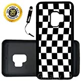 Custom Galaxy S9 Case (Checkered Flag Finish Line) Edge-to-Edge Rubber Black Cover Ultra Slim   Lightweight   Includes Stylus Pen by Innosub