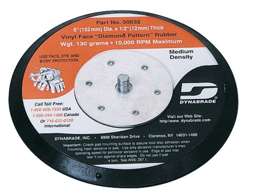 Dynabrade 50632 6-Inch Rubber-Face Non-Vacuum Disc Pad