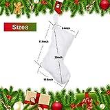 JOVITEC 20 Inch Faux Fur Christmas Stockings Snowy