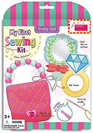 Kids Designs Little Garden My First Sewing Kit Paper Craft Educational Toy with Sparkling Rhinestones for 3 Aha