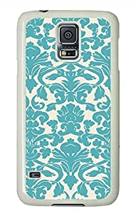 Ornate White Hard Case Cover Skin For Samsung Galaxy S5 I9600