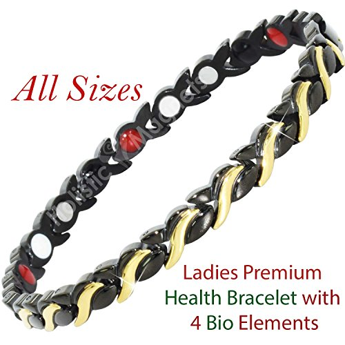 Negative Bracelet Germanium Arthritis Black BGB4