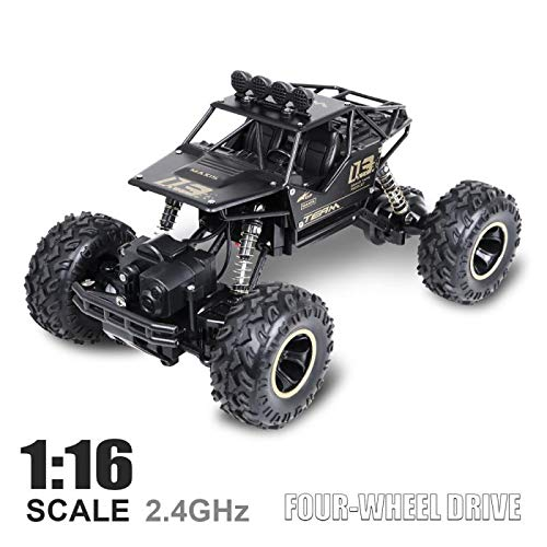 SHUANGFENG RC Car 1:16 Scale 4WD Rock Crawlers Off -Road/Rock Climbing Car 4 CH/2.4G Brushless Electric with Flashlight/Waterproof/Shockproof Boys' Suprise Gift