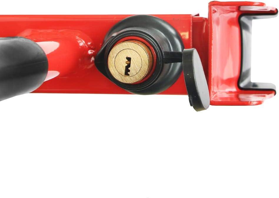 Serrure de Pneu de s/écurit/é Universelle pour remorque Bateau Camping-Car Caravane Noir//Rouge avec 2 cl/és Moto KAIRAY Serrure de Pneu de v/élo Haute Performance