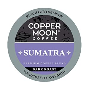 Copper Moon Sumatra Blend, Dark Roast Coffee Pods Compatible with Keurig K-Cup Brewers, 80 Ct.