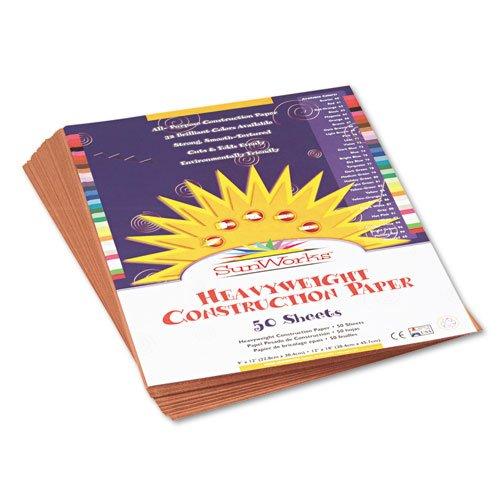 SunWorks - Construction Paper, 58 lbs., 9 x 12, Light Brown, 50 Sheets/Pack 6903 (DMi PK