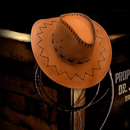 GHONLZIN Cappellino da Cowboy con Cappuccio Ampio a Tesa Larga ... f07502583645