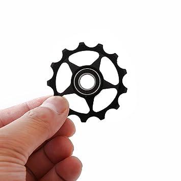 gaddrt bicicleta de carretera aluminio rueda Jockey cambio trasero polea guía rodillo correa de distribución 13 T, negro: Amazon.es: Deportes y aire libre