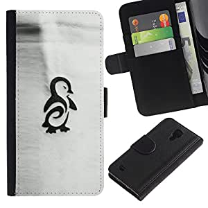 iBinBang / Flip Funda de Cuero Case Cover - Tinta del tatuaje dibujo Gris - Samsung Galaxy S4 IV I9500