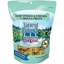 Natural Balance L.I.T. Limited Ingredient Small Breed Dog Treats, Grain Free, Sweet Potato & Chicken Formula, 8-Ounce