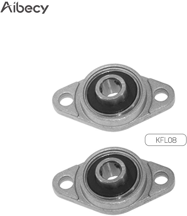 2Pcs 12mm Diameter Bore Ball Bearing Pillow Block Mounted Support KP001 SU