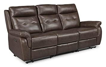 Stupendous Homestyles By Flexsteel Lux Leather Power Motion Reclining Sofa Unemploymentrelief Wooden Chair Designs For Living Room Unemploymentrelieforg