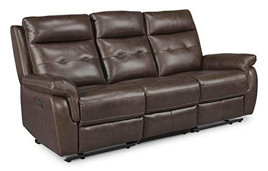 Astonishing Homestyles By Flexsteel Lux Leather Power Motion Reclining Sofa Ibusinesslaw Wood Chair Design Ideas Ibusinesslaworg