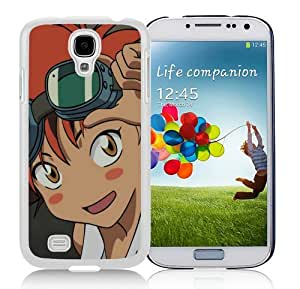 Custom Best Design Cowboy Bebop Ed Girl Smile Blush White Samsung Galaxy S4 i9500 Case