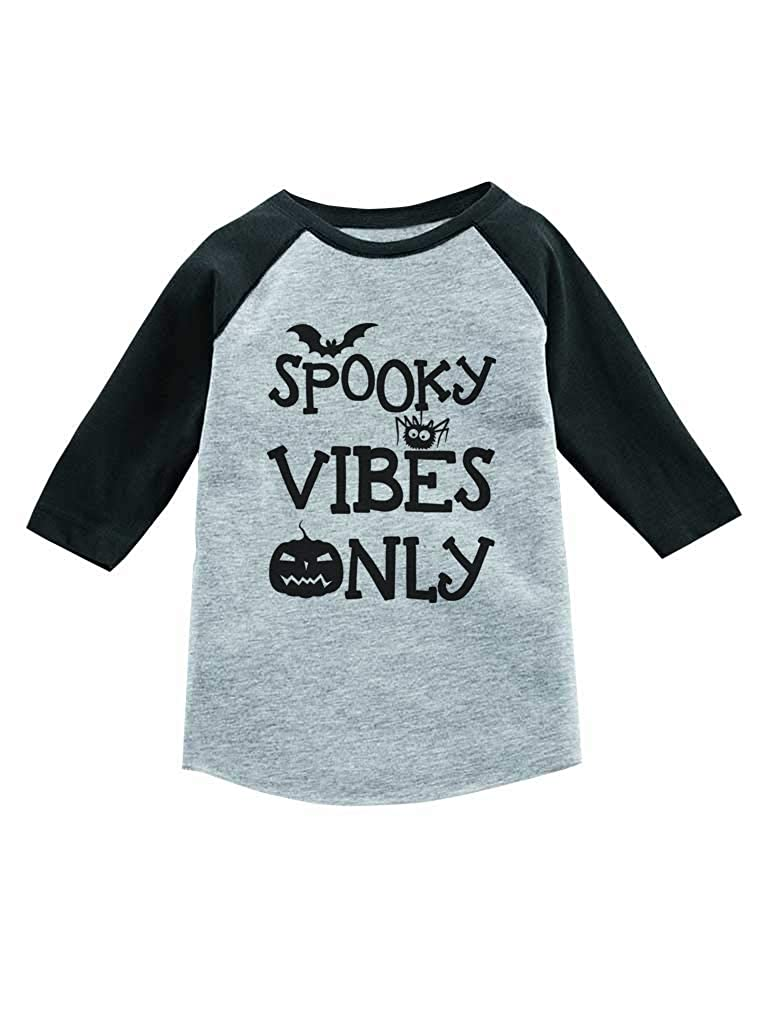 Spooky Vibes Only Halloween Trick Or Treat 3//4 Sleeve Baseball Toddler Shirt