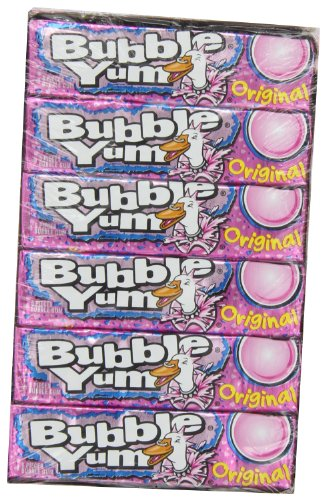 BUBBLE YUM Bubble Gum, Original, 5 Piece Package (Pack of 36 )(Halloween Candy)