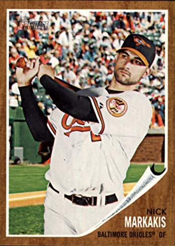 2011 Heritage Card - 2011 Topps Heritage #64 Nick Markakis Orioles MLB Baseball Card NM-MT