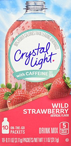 Light Soft Drink - Crystal Light On The Go Drink Mix, Wild Strawberry, 10 Count