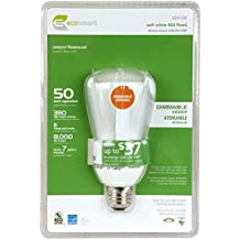 EcoSmart 50W Equivalent 2700K R20 Dimmable CFL Light Bulb, Soft White
