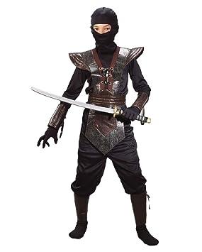 Ninja Fighter Kids traje marrón Talla M: Amazon.es: Juguetes ...