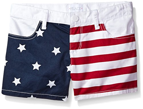 The Children's Place Big Girls' Fashion Shorts, White 81878 USA, 6]()