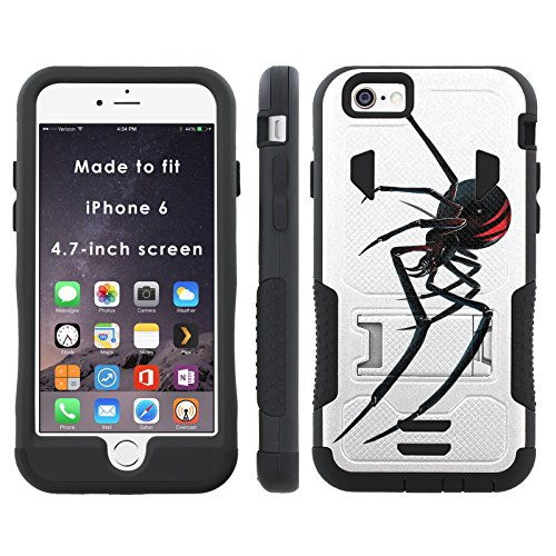 Blackwidow - Mobiflare iPhone 6 iPhone 6S (4.7 inch Screen) Flak Jacket Dual Armor with Kick-stand