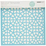 Kaisercraft T609 Scrapbooking Template, 12 by 12-Inch, Stained Glass