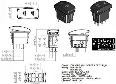 Navigtion Pin Rocker Switch Wiring Diagram Lights on