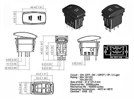 7 Pin Rocker Switch Wiring Diagram Nav Anch. . Wiring Diagram Navigtion Pin Rocker Switch Wiring Diagram Lights on