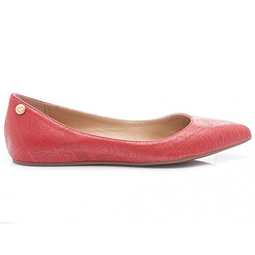 new release top quality wholesale outlet Love Moschino Women's Ballet Flats red red: Amazon.co.uk ...