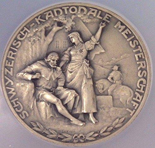 1964 CH 1964 Rare Swiss Silver Shooting Medal Brunen Schw coin Good