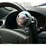 Silver TypeR Steering Wheel Aid Power Handle Assist Spinning Knob Ball for Car, Truck, Lorry & Van