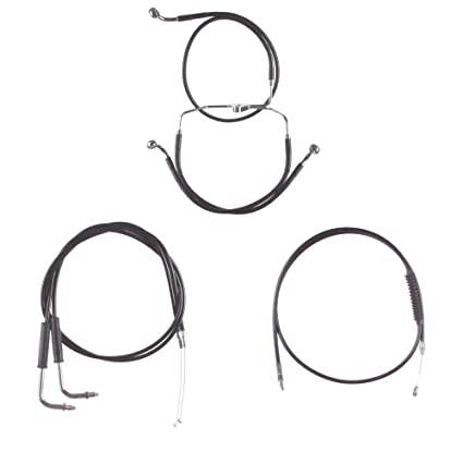 amazon com: hill country customs basic black cable brake line kit for 22