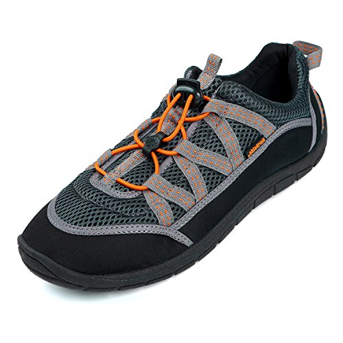 Northside Mens Brille II Water shoe,Grey/Orange,9 M US (Brille Für Den Sport)