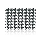 TopCase Black / White Houndstooth Ultra Slim Light Weight Rubberized Hard Case Cover for Macbook Pro 13