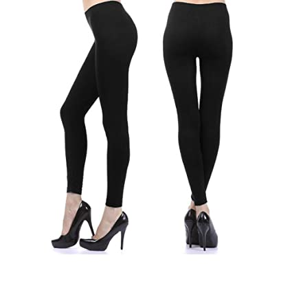 4d7edcfc9 Amazon.com  Womens Ankle Length Footless Tights Pantyhose Seamless Stretch  Opaque Black !  Sports   Outdoors