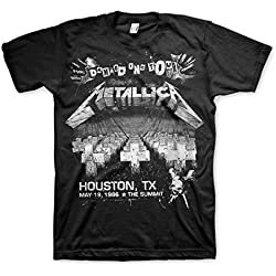 Metallica Damage Inc Tour 1986 Master of Puppets T-shirt - Black (Small)