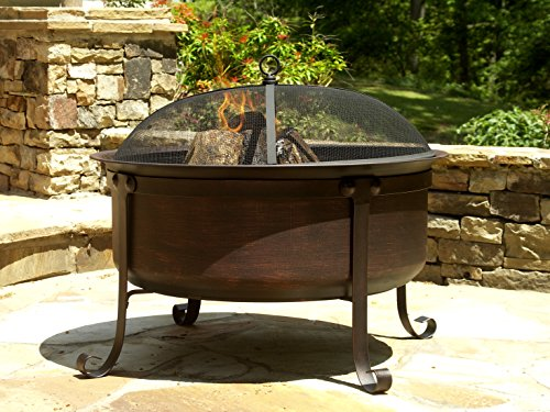 """Catalina Creations 34"""" Cauldron Patio Fire Pit for Outdoors 