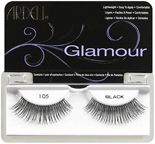 Ardell Glamour Fashion Lashes, Black [105] 1 ea (Pack of 9)