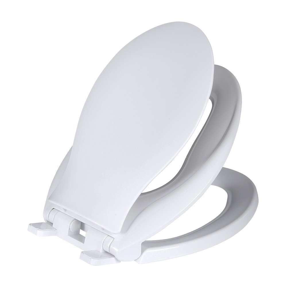 SAMETU Slow-Close Adult Toilet Seat with Built-in Child Potty Training Seat and Cover, Elongated, White